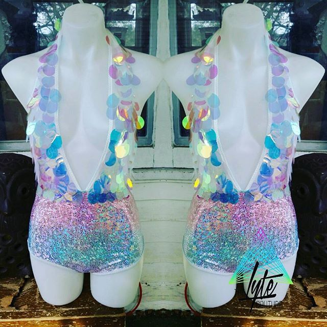 Meet the newest addition to @thelytecouture Our new Unicorn Bodysuit! This will be going up on the shop today, and we couldn't be happier to bring this to you all! Click the link in our bio to shop for this bodysuit today! theLYTE the LYTE couture unicorn rainbow holographic bodysuit