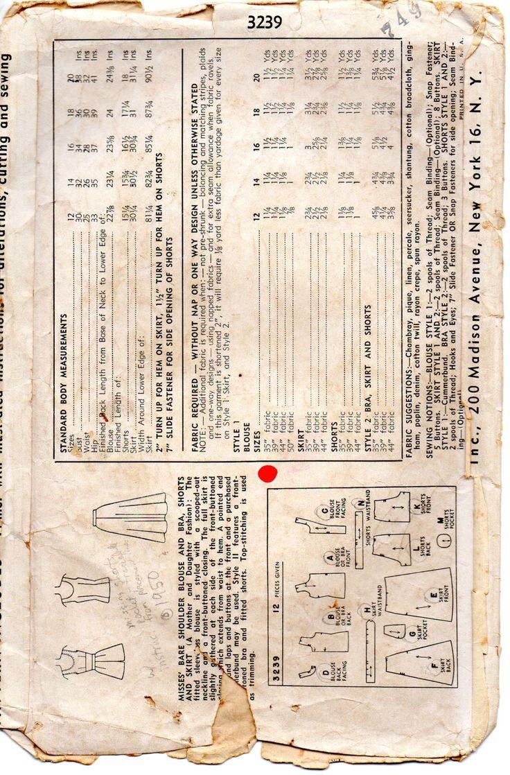 Semplicità del 1950 3239 Misses reggiseno Top di mbchills su Etsy
