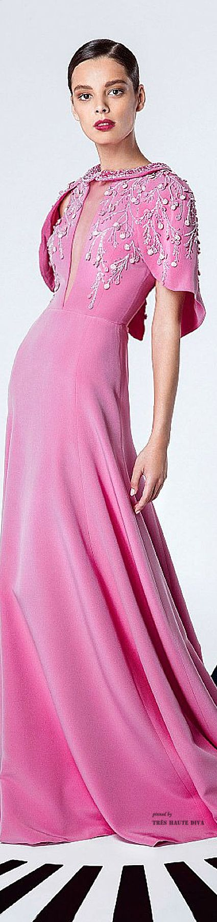 Georges Hobeika Spring Summer 2015 ♔ Pink Evening Gown ♔ Tres Haute Diva- LadyLuxury