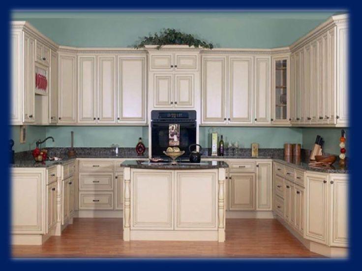 Best Antique White Kitchen Cabinets 14 Foot Set Largo All Wood 400 x 300