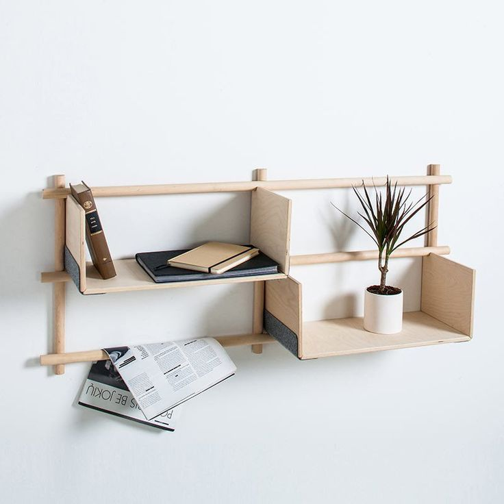 Foldin Wall Shelf with 4 holes, 2 shelves, 2 hooks -  - Wall Shelf - EMKO - Space & Shape - 6