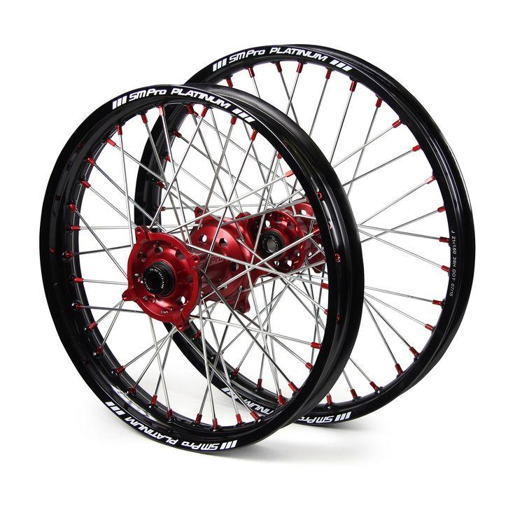 SM Pro Beta RR/RS/RR-S 14-17 Black/Red Platinum Wheel Set