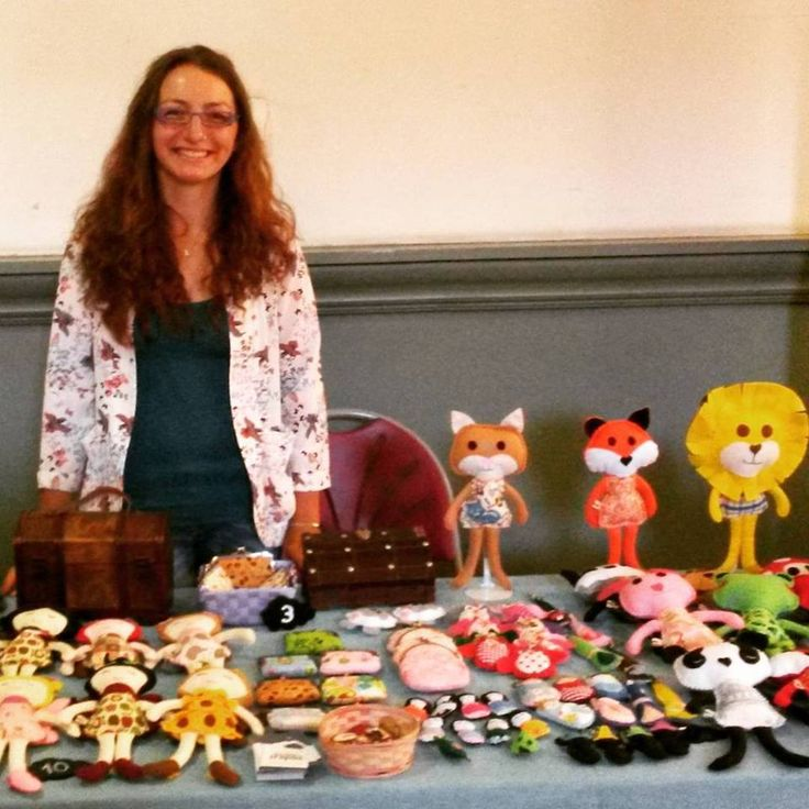 Me with my dolls at the Cirencester Craft Market, UK