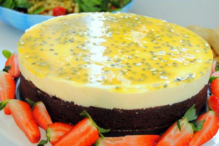 Chokladtårta med passionsfruktsmousse - Passion för Choklad