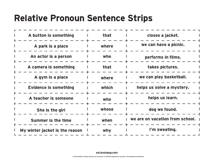Challenge students to practice using relative pronouns by creating sentences with the sentence fragments.
