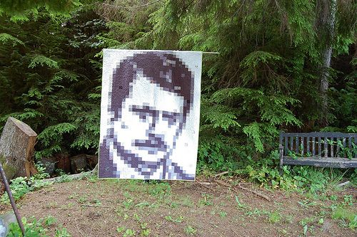 i WILL make this for matt for xmas: Heart Ron, Ron Swanson Quilts Pur, Quilts Inspiration, Happy Zombies, Swanson Quilts Along, Free Pattern, Diy Quilts, Quilts Ideas, Awesome Quilts