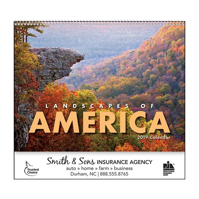 Top Selling Promotional Calendar 2019 edition Landscapes of America #promotionalcalendar #marketingcalendar #promotionalproducts #landscapesofamerica