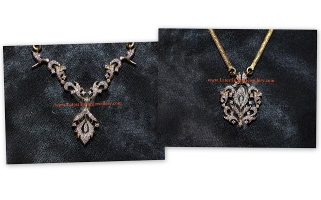 2 in 1 diamond necklace