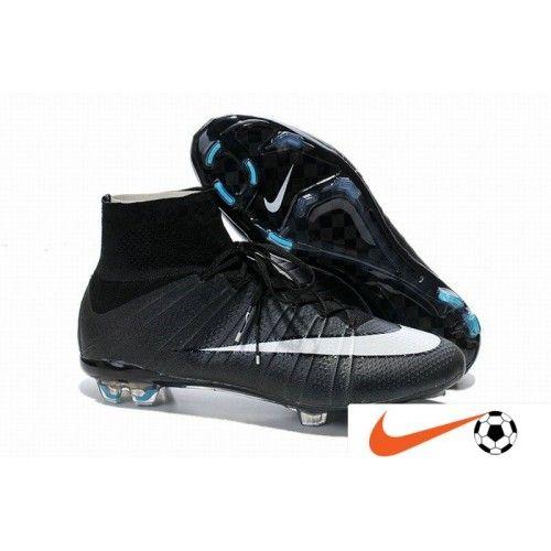 Billige Fodboldstøvler Tilbud - Nike Mercurial CR7 Superfly FG Sort Hvid Classic Super Fodboldstøvler
