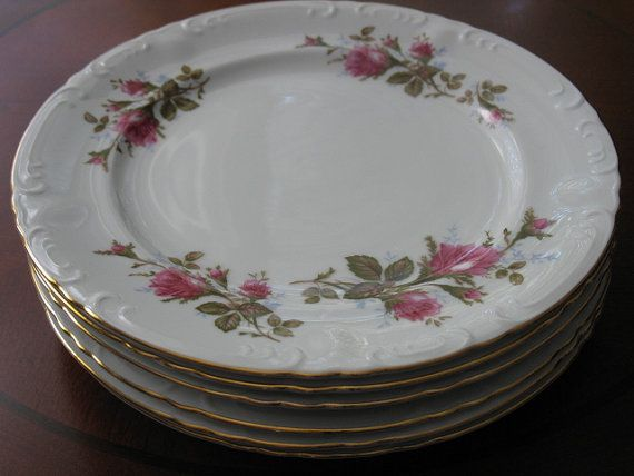 Moss Rose Fine China Royal Rose Luncheon by ClassicTableware, $30.00