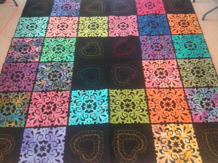 my own pattern ... 97x97  QAYG