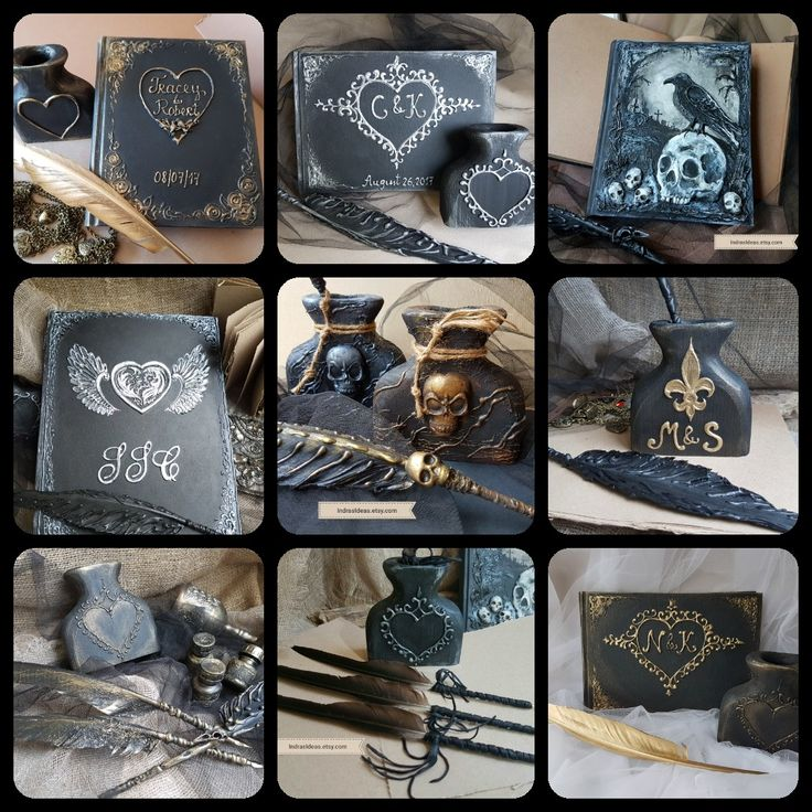 I do custom books to order. For the options please follow to my store by clicking the link to it at the top of the page. IndrasIdeas.etsy.com Feel free to ask if you did not find anything quite like what you had in mind.   #Journals  #Notebooks  #Bookofshadows  #black  #Gothic  #Magic  #book  #Grimoire  #goth #Halloween  #spell  #Raven #Journal  #custom #Journal