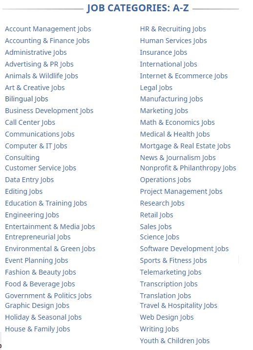 list of job sites