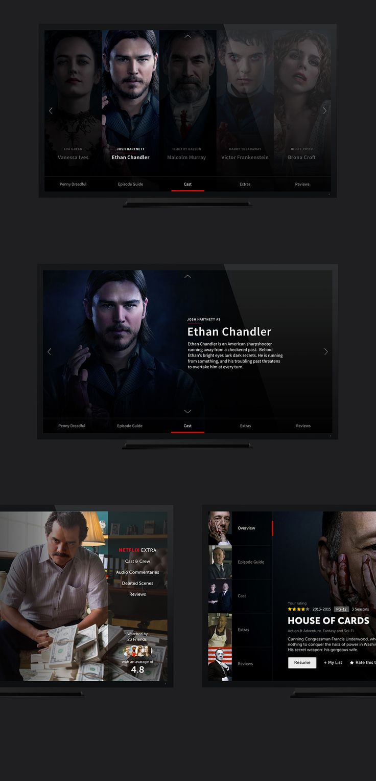This guy redesigned Netflix and it is beautiful. I love the subtle diagonal shade thing