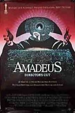 Amadeus ( 1984 )  The incredible story of Wolfgang Amadeus Mozart, told in flashback mode by Antonio Salieri - now confined to an insane asylum. My dog is named Mozart because of this movie.