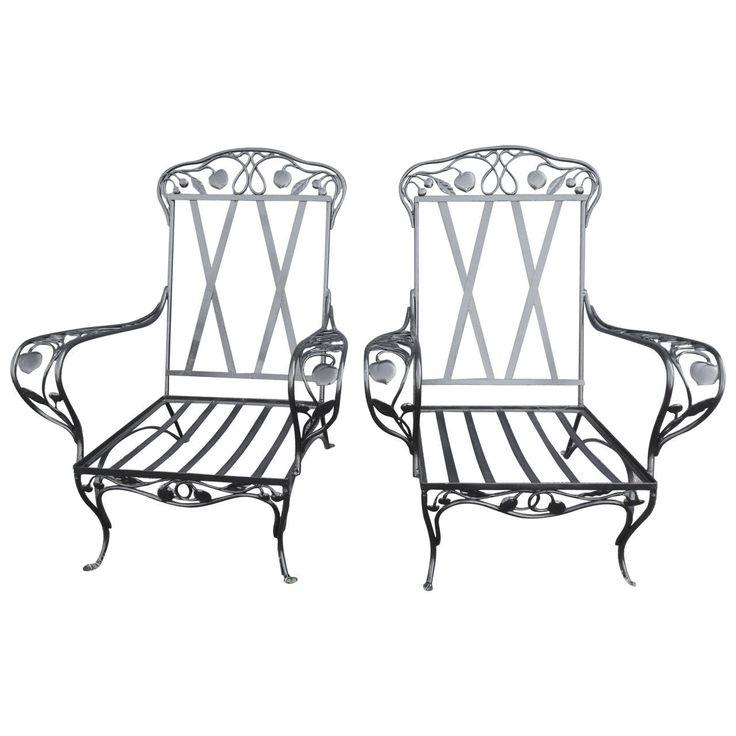 Mejores 1326 imágenes de Vintage Wrought Iron Patio Furniture en ...