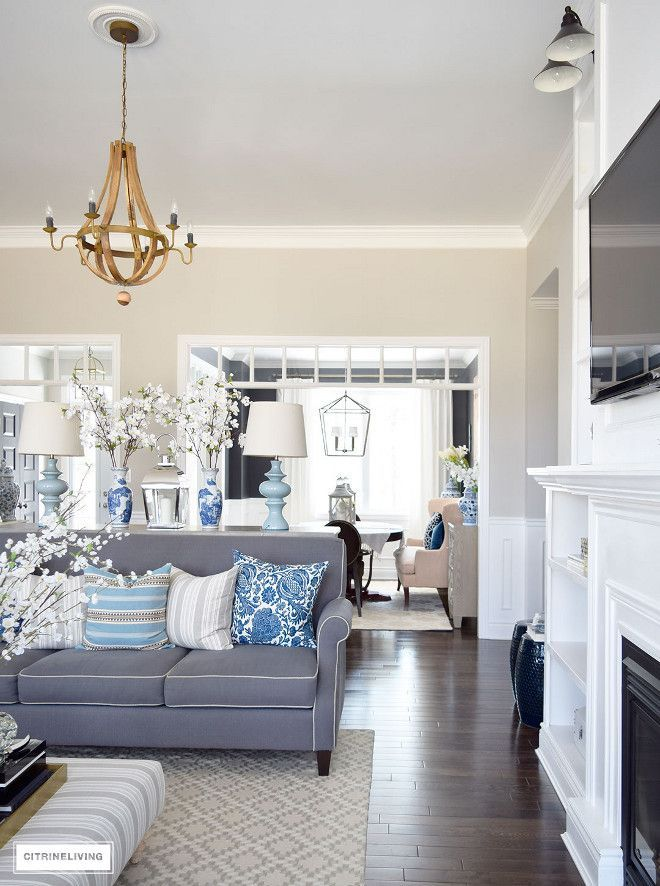 Living Room Spring Decor Blue And White Living Room Spring Decor Blue And White Living Farm House Living Room Farmhouse Decor Living Room Coastal Living Rooms