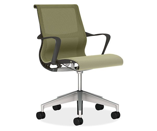 Room Board Setu Chair Graphite With Lyris 2 Chartreuse By Herman Mil