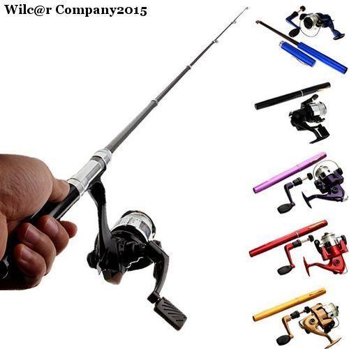 Telescopic Pen Shape Fly Fishing Rod + Reel + Nylon Line Baitcasting Pocket Pole | eBay 1 X Fishing reel. Item:Mini Fishing Pole. Spread Length:1m. 1 X Fishing rod. 1 X Nylon fishing line. very convenient for fishing. Ideal for fishing enthusiast or collectors. Enjoy fishing anytime ! http://www.ebay.com/itm/Telescopic-Pen-Shape-Fly-Fishing-Rod-Reel-Nylon-Line-Baitcasting-Pocket-Pole-/182069303914?