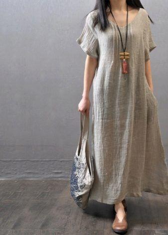 Вечернее платье из льна