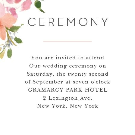 Make sure your guests know the ceremony details using the Floral Felicity Ceremony Cards.