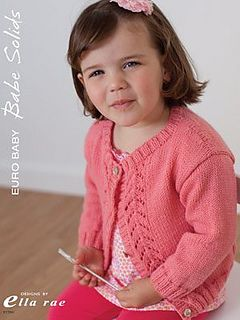 An advanced beginner would find this sweet cardigan a good introduction to sweaters and lace.
