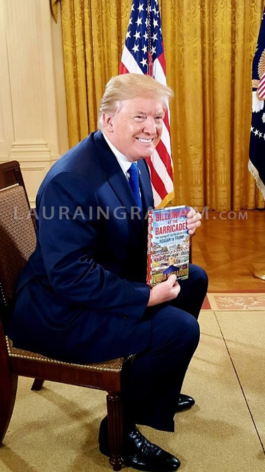 POTUS today! Laura Ingram's book Billionaire at the Barricades, now a NYT bestseller. Order your copy at: www.billionaireatthebarricadesbook.com