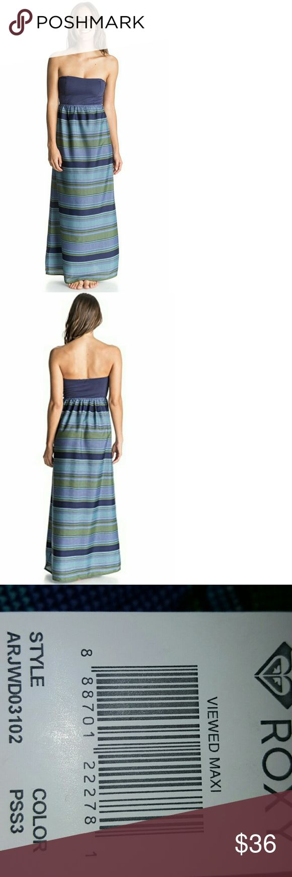 🆕Roxy Womens Viewed Maxi Strapless Dress The nuts and bolts      Woven tube maxi-dress     Mixed prints on bodice & skirt     Bicolor design     Strapless tube bodice     Maxi-length 100% Polyester Roxy Dresses Maxi