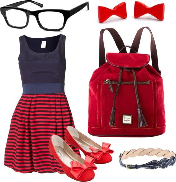 """Cute Nerd Schoolgirl Outfit"" by marissa-anne-weddle on Polyvore"