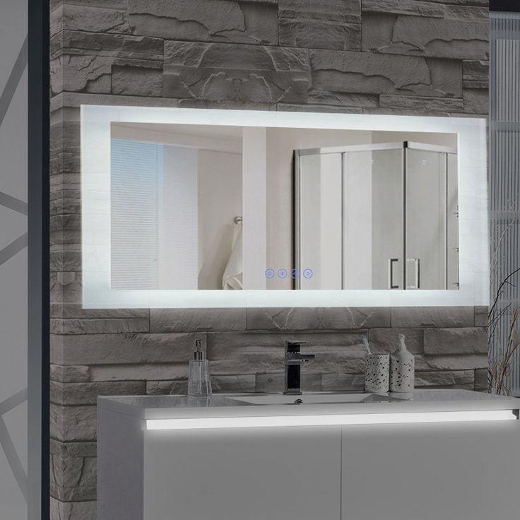 Encore LED Illuminated Bathroom Wall Mirror with Built-In Bluetooth Audio Speaker