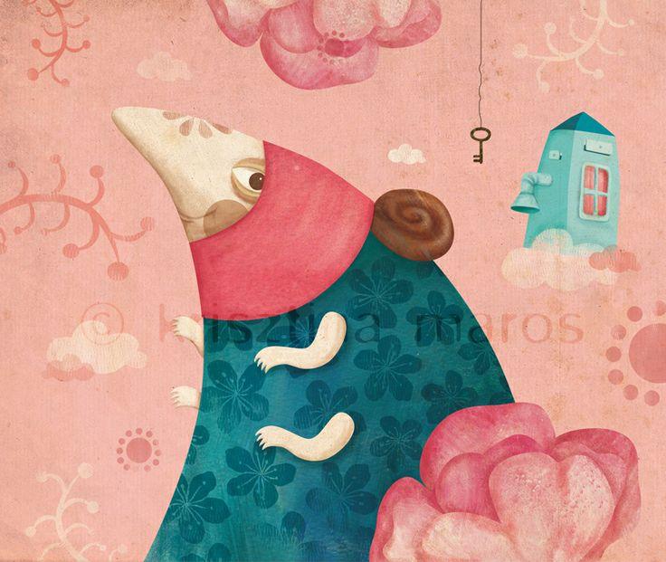 Book illustration 'Az Illatok és Hangok Őrzője' (The Guardian of Fragrances and Voices), Written and illustrated by Krisztina Maros / Published by Csimota, 2014, Hungary