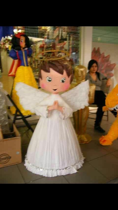 pinatas para bautizo pinata angel bautizo pinterest baby shower balloon centerpieces pinterest girl baby shower centerpieces pinterest