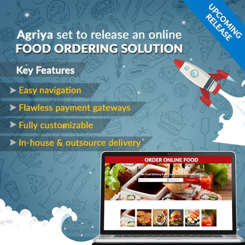 Agriya's next product in line, the online food ordering solution is all ready to launch. Set up an efficient food ordering platform utilizing this upcoming ready-made solution.
