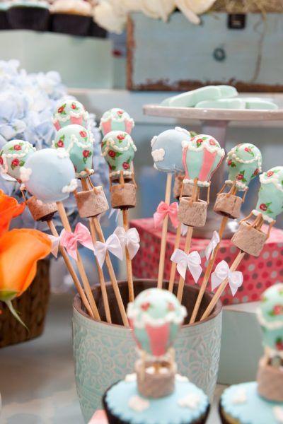 Cakepops - Festa tema Balões | Macetes de Mãe