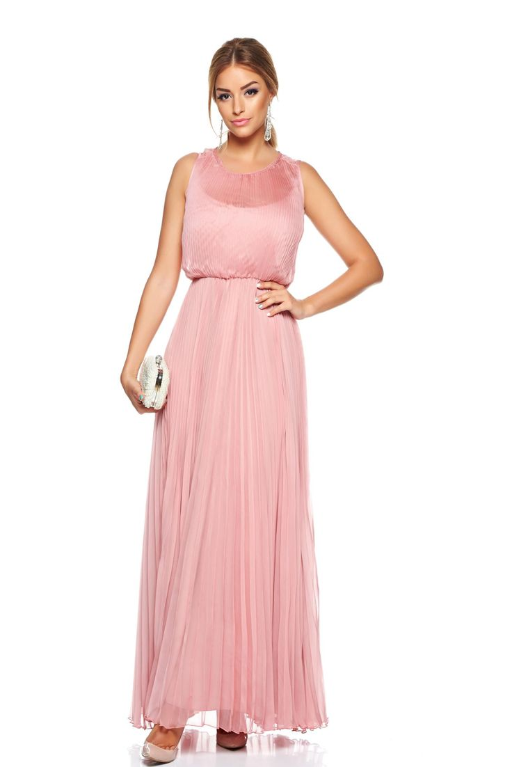 Daniella Cristea Pride Lila Dress, accessorized with tied waistband, sleeveless, inside lining, pleats of material, airy fabric