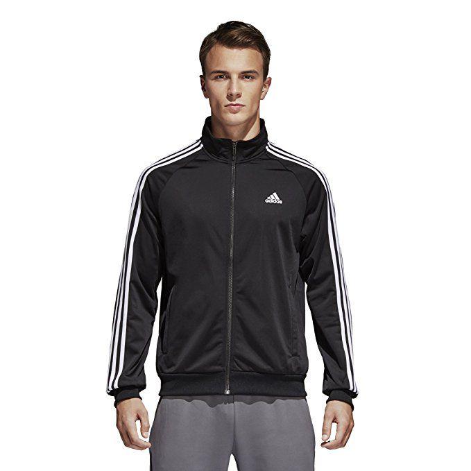 adidas Men/'s Essentials 3-Stripe Tricot Track Jacket