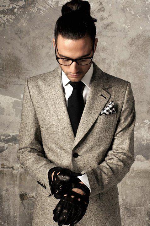 De La Garza tweed/ fashion/ men