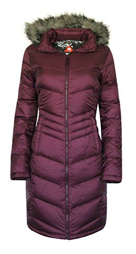 Columbia Women Polar Freeze Long Down Jacket Omni Heat Winter Coat Xs Burgundy Details Can Be Found By Clicking On The Image