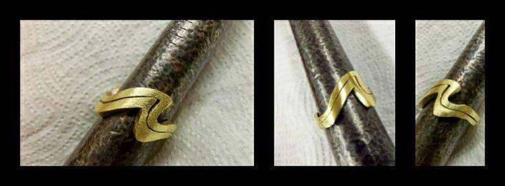 Interlocking Wedding Ring Set - in progress by Olivia Fern.   http://oliviafern.tumblr.com https://www.facebook.com/OliviaFernStudio