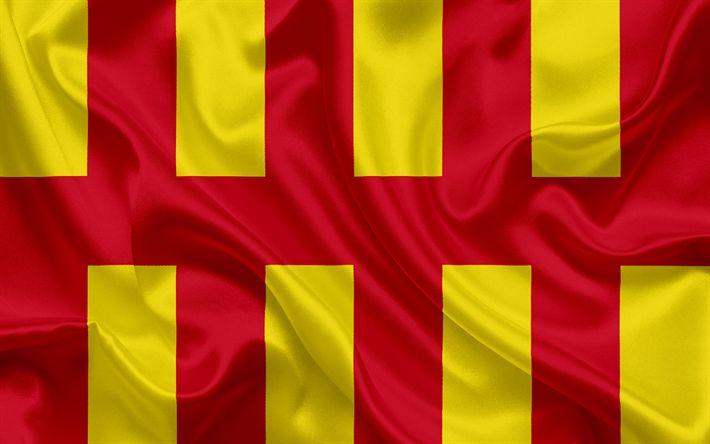 Herunterladen hintergrundbild grafschaft northumberland flagge england, flaggen der englischen grafschaften, flagge von northumberland, britischer county-flags, seide flagge, northumberland