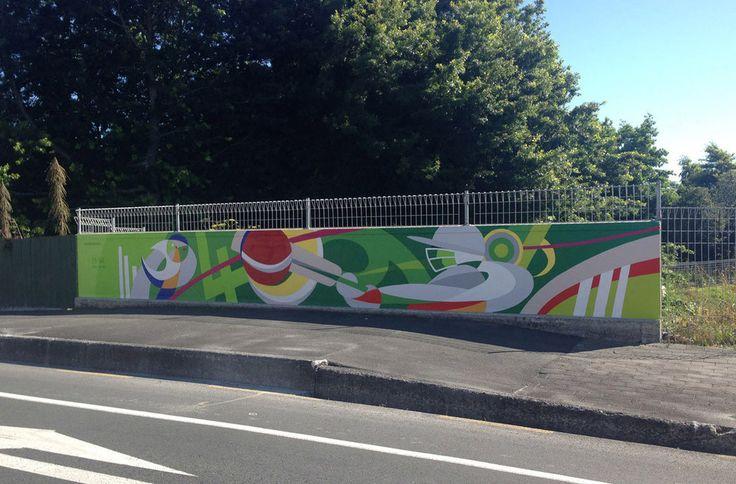 Cricket Themed Mural