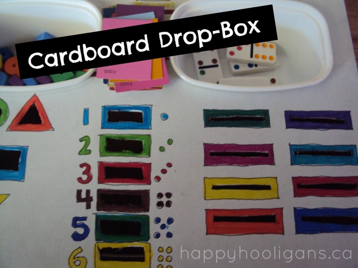 Fine Motor Drop Box – Awesome Homemade Learning Activity for Toddlers and Preschoolers