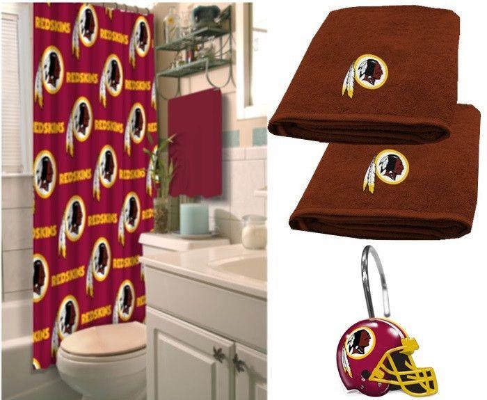 Washington Redskins Nfl Deluxe Bath Set At Sportsfansplus Com Nfl
