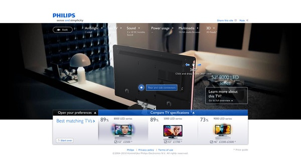 Philips' TV Buying Guide by INDG , via Behance