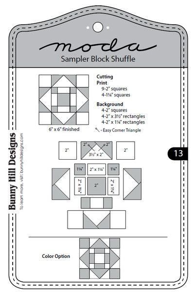 Moda Sampler Block Shuffle - Block 13