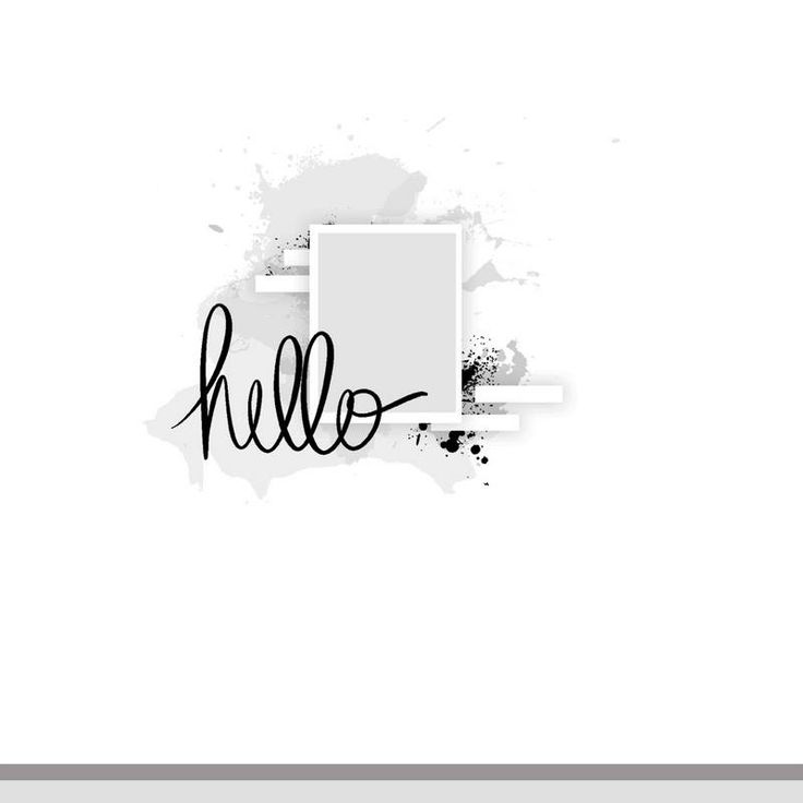 Scrapidées Sketch #341 - hello one photo sketch - great for a mixed media or stencil background