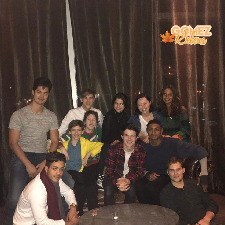 Selena Gomez with 13 reasons why's cast