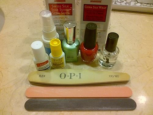 how to do your own silk wraps for nails no step by step pic's but at least a good instructional on how to and supply list