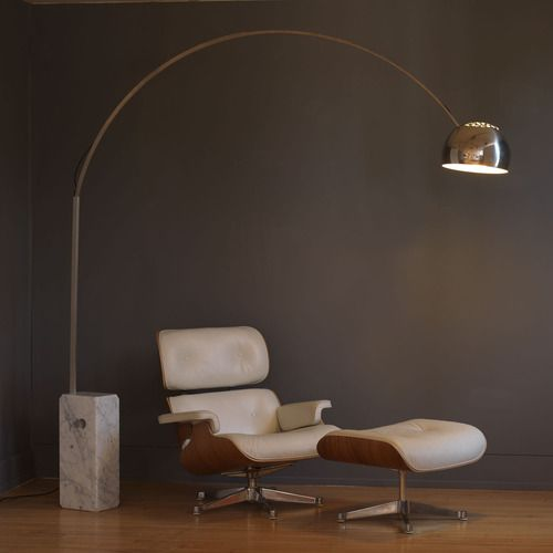 Flos Arco lamp, Eames lounge chair-iconic style