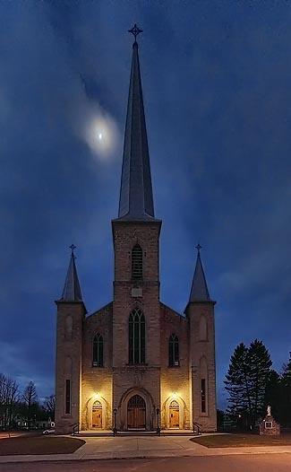 St. John The Baptist Roman Catholic Church     Photographed in Perth, Ontario, Canada.   02192-7